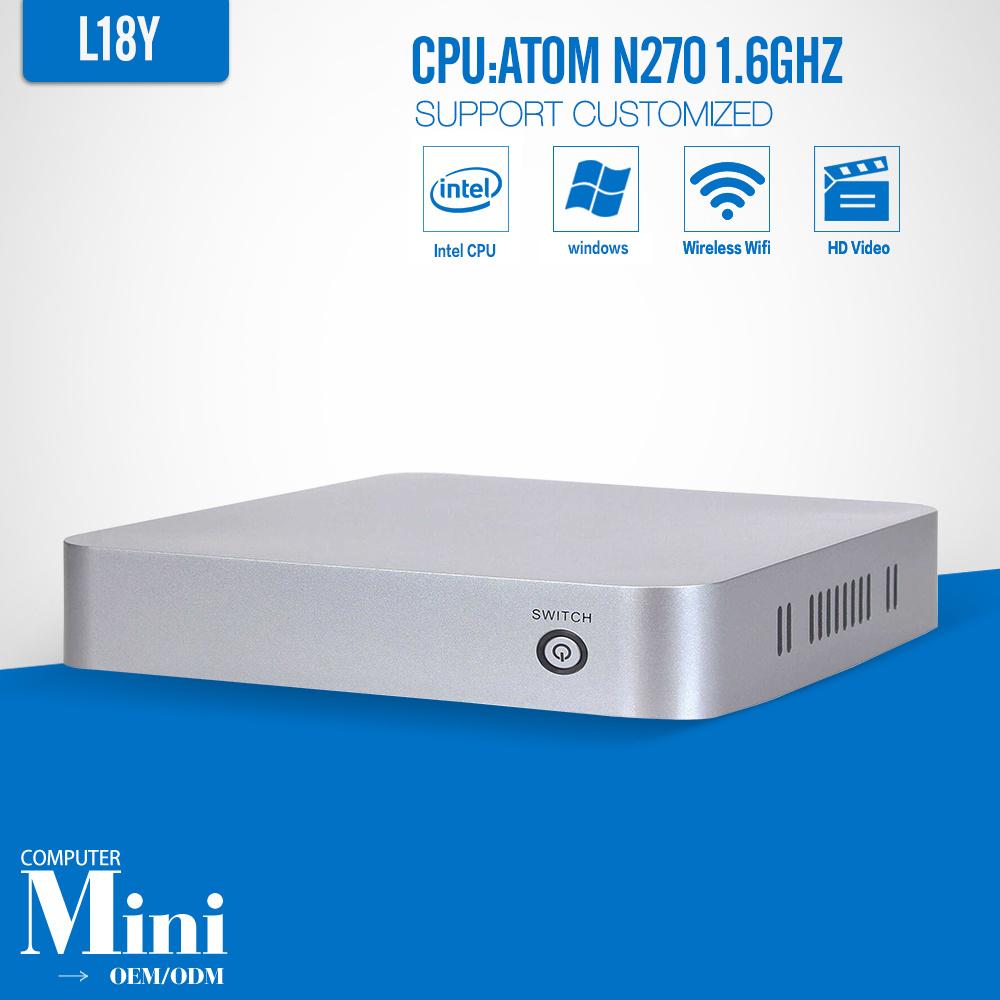 MINI PC N270 Barebone PC Hdmi Windows 8.1/8/7/XP WIFI Low Power Mini Desktop Computer thin Client(China (Mainland))