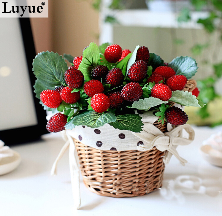 Online get cheap artificial strawberry plants aliexpress for Artificial fruits for decoration