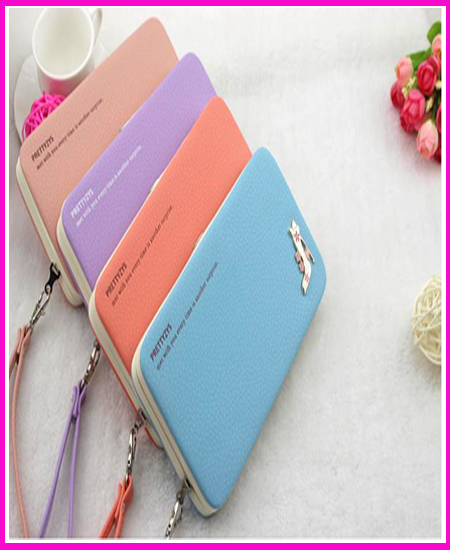 2015 New Lady Lunch Box Wallet Iphone Holder Women PU Leather Long Purse Clutch Wallet Card Holder<br><br>Aliexpress