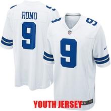 Dallas Cowboys Troy Aikman Tony Romo Roger Staubach Ezekiel Elliott Emmitt Smith Byron Jones Cole Beasley For YOUTH KIDS(China (Mainland))
