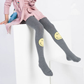 Autumn New Arrived High Quality Smiling Face Young Girls Leggings Windproof Children Leggings Kids Cotton Toursers