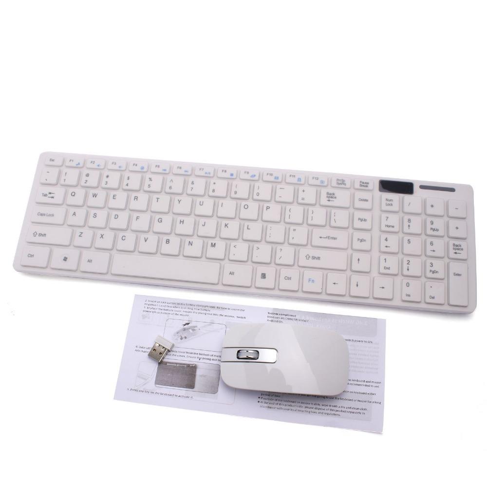 1set 2.4G White Wireless PC Keyboard +Mouse Keypad Film Kit Set For DESKTOP PC Laptop Free Shipping 80426(China (Mainland))