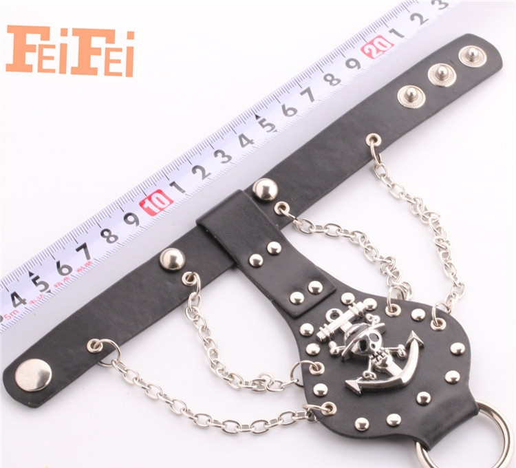 Foreign trade hot new singer Piece logo Europe punk style bracelet hand with wholesale manufacturers supply(China (Mainland))