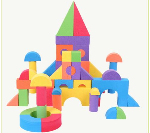 F30 high quality 52 pieces soft foam eva building blocks for Foam building blocks for houses