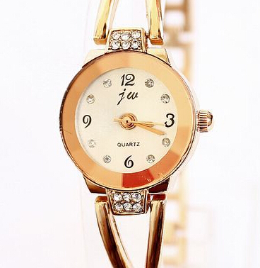 Authentic jw brand watch wholesale shop Elegant and rose gold bracelet table Upscale female table(China (Mainland))