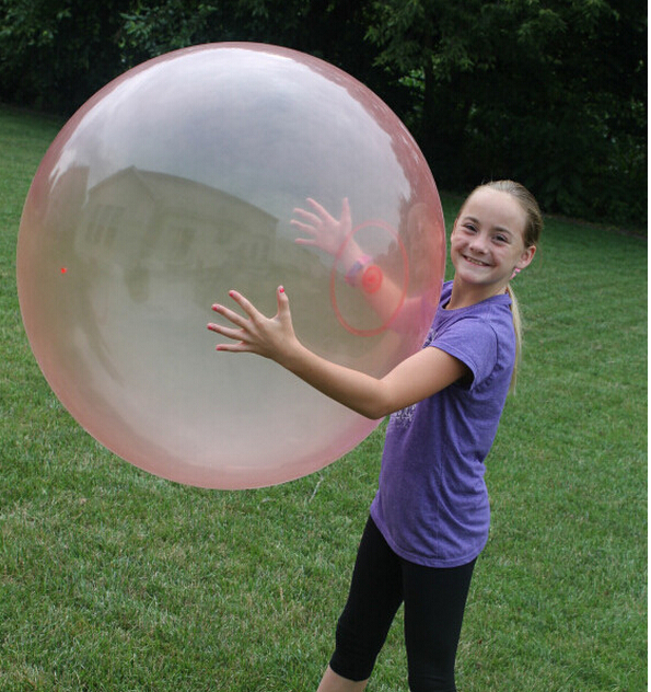 Big Bubble ball (without charge pump No Color box) Big balloon children toy wubble bubble ball(China (Mainland))