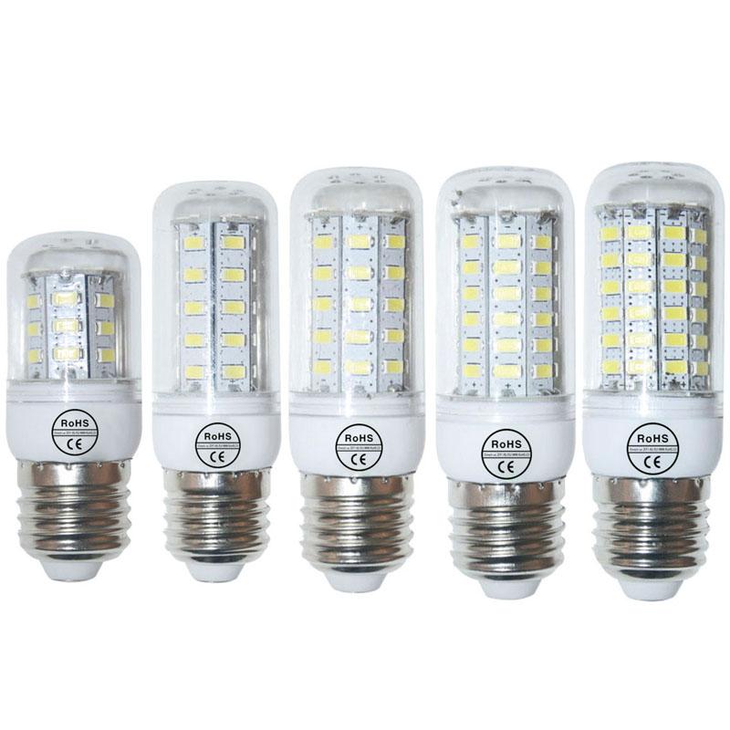 110V E27 SMD5730 LED Lamp 9W 12W 15W 20W 25W LED Light E27 5730 Led Corn Bulb 24Led 36Led 48Led 56Led 69Led Chandelier Light(China (Mainland))
