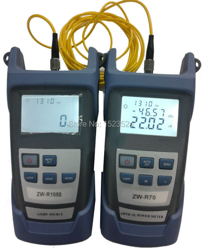 Fiber Optical Multimeter -70~+3dBm Handheld Fiber Optical Power Meter + Fiber Optical Light Source 1310/1550nm(China (Mainland))