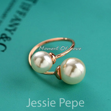Jessie Pepe Italina Unique Elegant Rings Anel Joias de perola With Austrian Crystal Welcome Wholesale DC1989#JP96902(China (Mainland))