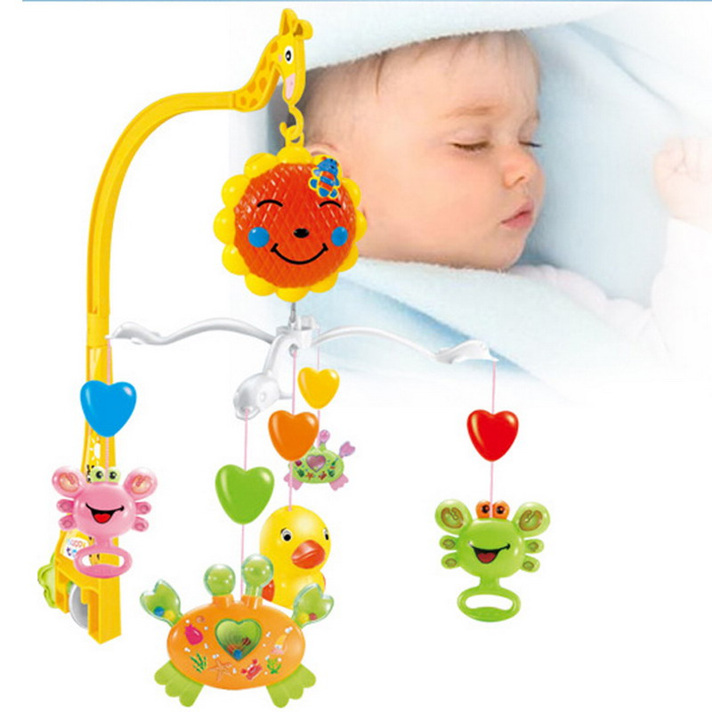 Music Rattles Bed Bell Lovely Baby Child Mobile Crib Cartoon Toy Box Wind-Up Movement with Animal Rattle Baby Toys VBQ65 T15 0.5(China (Mainland))