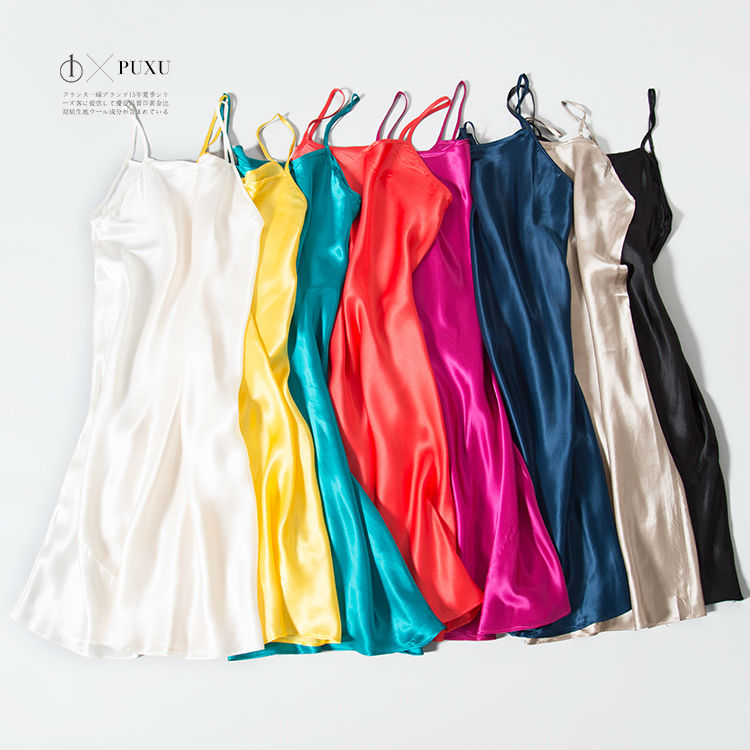 Silk SLEEP font b Dress b font REAL SILK women sleepwear healthy home font b dress