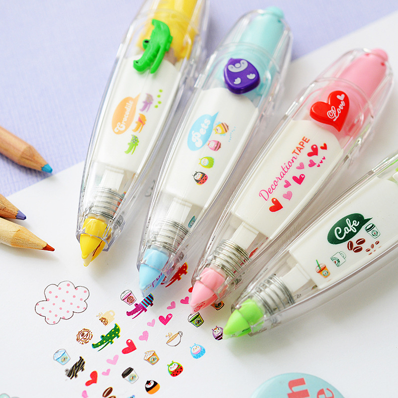 Cute correction tape Cartoon animal Decoration tapes for letter diary DIY scrapbooking tools stationery School supplies 6514(China (Mainland))