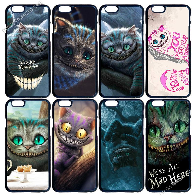 Cheshire Cat Alice in Wonderland Phone Cover Case for iPhone 4 4S 5 5S 5C 6 6S Plus iPod Touch 4 5 6 LG G2 G3 G4(China (Mainland))