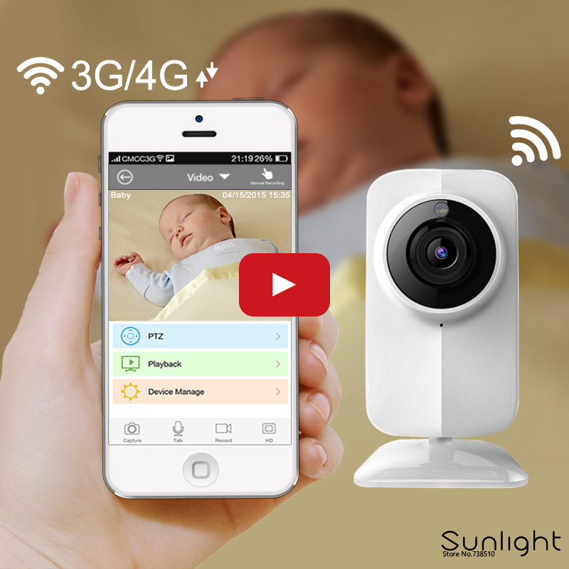 2MP HD Video Baby Monitor and Wireless Security Camera Support Voice calls,P/T,Night Vision,ONVIF,Remote control,Phone alarm(China (Mainland))