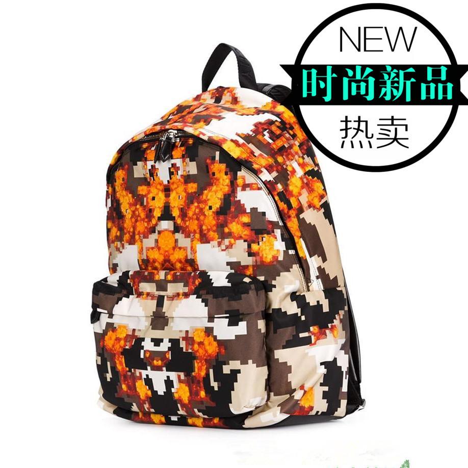 2015 NEW  Ji family G flame camouflage shoulder bag leather satchel canvas  Tauren vbag<br><br>Aliexpress