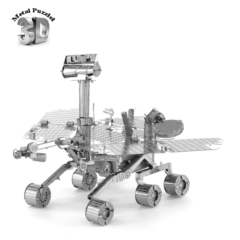 NASA 3D Metal Puzzles Miniature Model DIY Jigsaws Robot Cartoon Model Gift for Children Mars Exploration Rover, MER(China (Mainland))