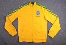 2016  Brazil Man's Soccer jackets 15-16 Brazil  black   soccer  jackets coat Thai Quailty Free Shipping(China (Mainland))