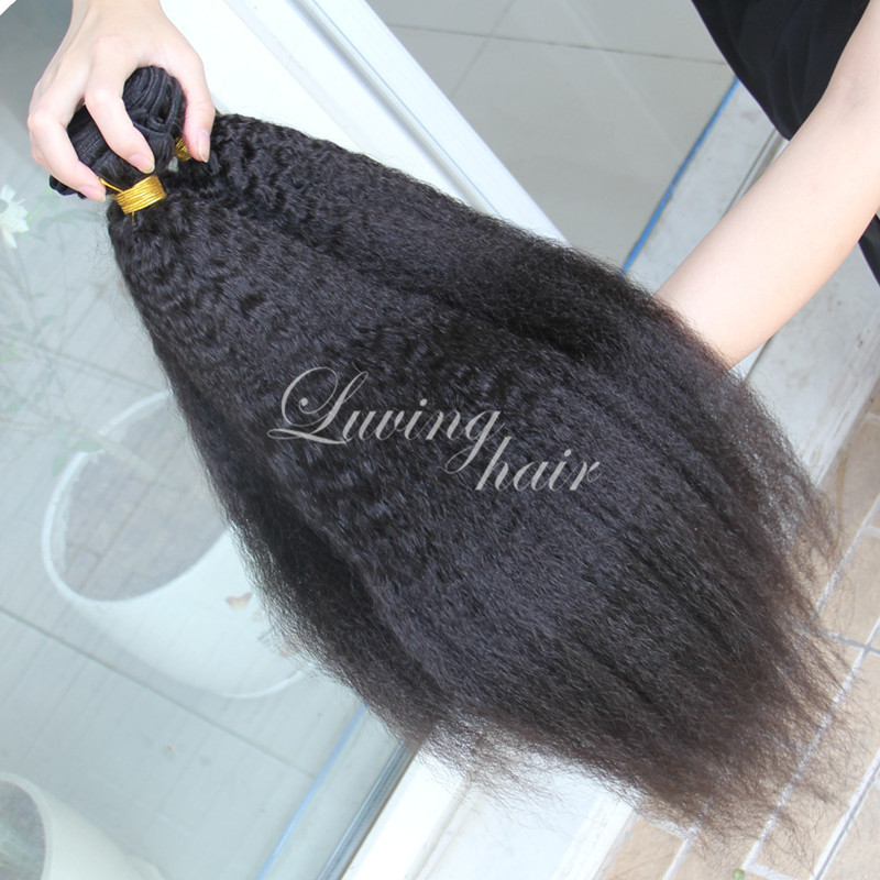 Гаджет  --------Top Quality Natural Black Afro Kinky Curly  Brazilian Virgin Remy Human Hair Weft 100% Pure Unprocessed 7A Hair None Волосы и аксессуары