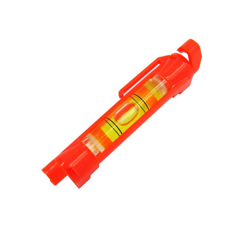 HACCURY Mini bubble level Hanging line level Bubble Spirit level vial Red/Yellow Color
