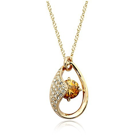 ,Crystal Tears 18K Gold Plated Fashion Pendant Jewelry Made Austria Crystal SWA Elements , - Shenzhen Sun International Co.,Ltd store