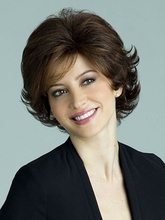 Free Shipping Elegant Fashion short curly wigs mix Brown color Super Charming wigs beautiful fashion wigs + Free Wig Cap
