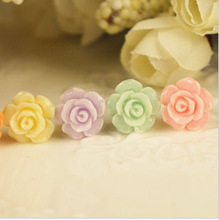2014 New Stereo Small Resin Roses Beautiful Mobile Phone Dustproof Plug Cell Phone Accessories