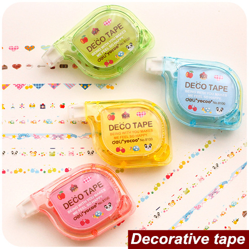 4 pcs/Lot decorative tape Masking tapes DIY scrapbooking Correction tape for letter diary stationery School supplies 6515(China (Mainland))