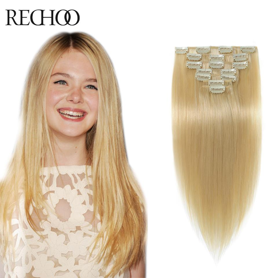 Double Wefted Clip In Human Hair Extensions Malaysian Hair Clip Ins Straight Remy Blonde Human Hair Extensions Clip In 200G