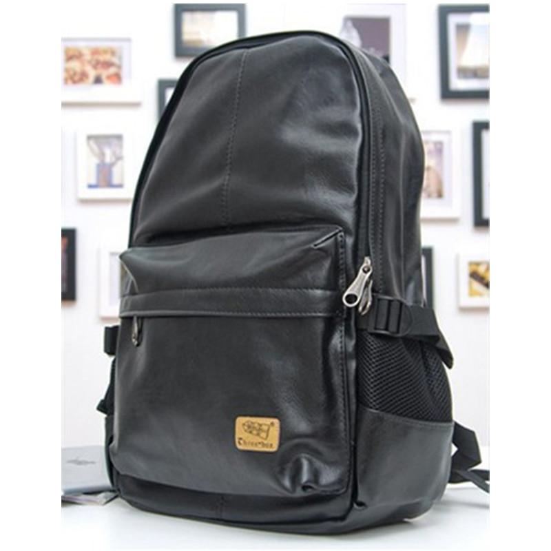 Гаджет  2015 New designer brand fashion black genuine leather men
