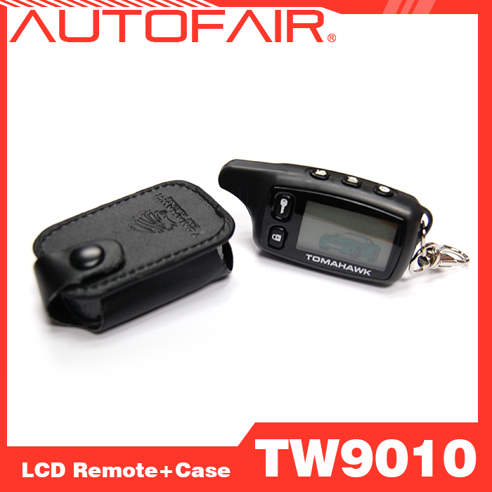 10PCS Two way car alarm Tomahawk TW9010 LCD remote control+ case 2-way car alarm LCD remote keychain + case Free Shipping(China (Mainland))