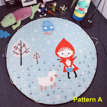 Multi-Function Baby Lovely Cartoon Figures Animals Pattern Play Mats As Buggy Bag Crawling Rug Carpet Toys Gifts For Baby Girls