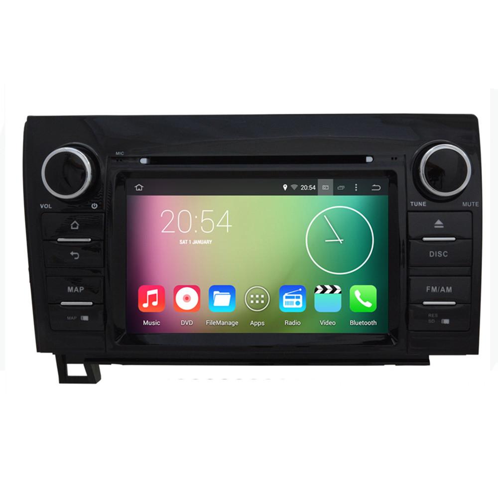 Здесь можно купить  Android 4.4.4 HD 1024*600 Quad core 16GB 1.6GHZ CPU Car DVD Player GPS Navigation System Stereo Radio For Toyota Tundra Sequoia  Автомобили и Мотоциклы