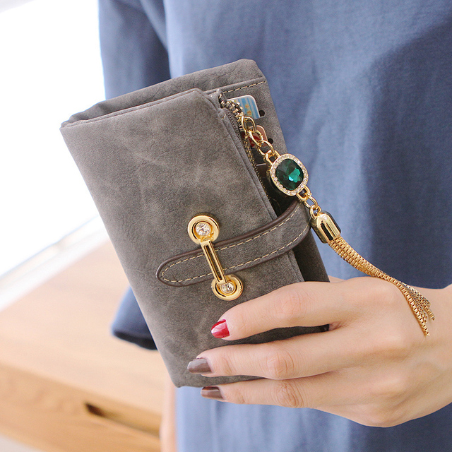 Nubuck Women Wallet