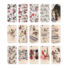 For iPhone 5 5s SE 6 6s 7 plus Fashion UK USA Retro style High Heel Shoes transparent Clear TPU case Cover(China (Mainland))
