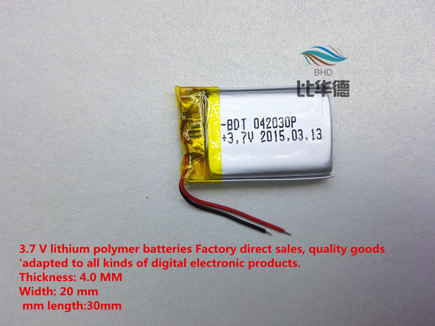 Free shipping Mini dv camera camcorder battery lithium polymer battery power402030(China (Mainland))
