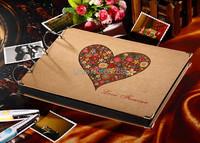 2015 10 inch New Photo Album Wedding Photos Children Family Memory Record Scrapbooking Album Sticky Type Lovers Birthday Gift