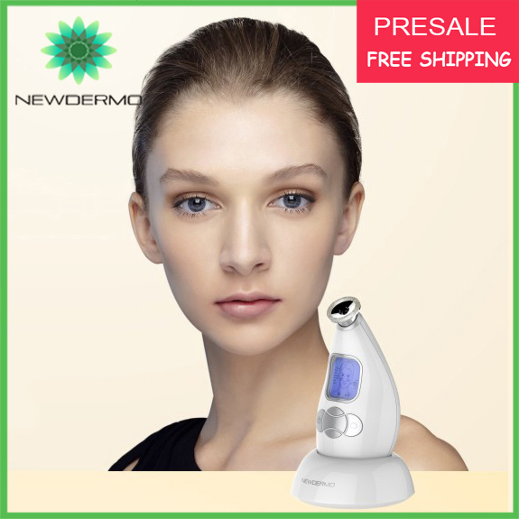 White Hot NEWDERMO Diamond Microdermabrasion Portable Machine Skin Rejuvenation Massage V Face(China (Mainland))