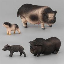 Simulação de plástico Porco Animais Modelo Coleção Figuras de Ação Brinquedos Para Crianças dos miúdos Para Casa Decoração de Mesa de Areia Brinquedo de Aprendizagem(China)