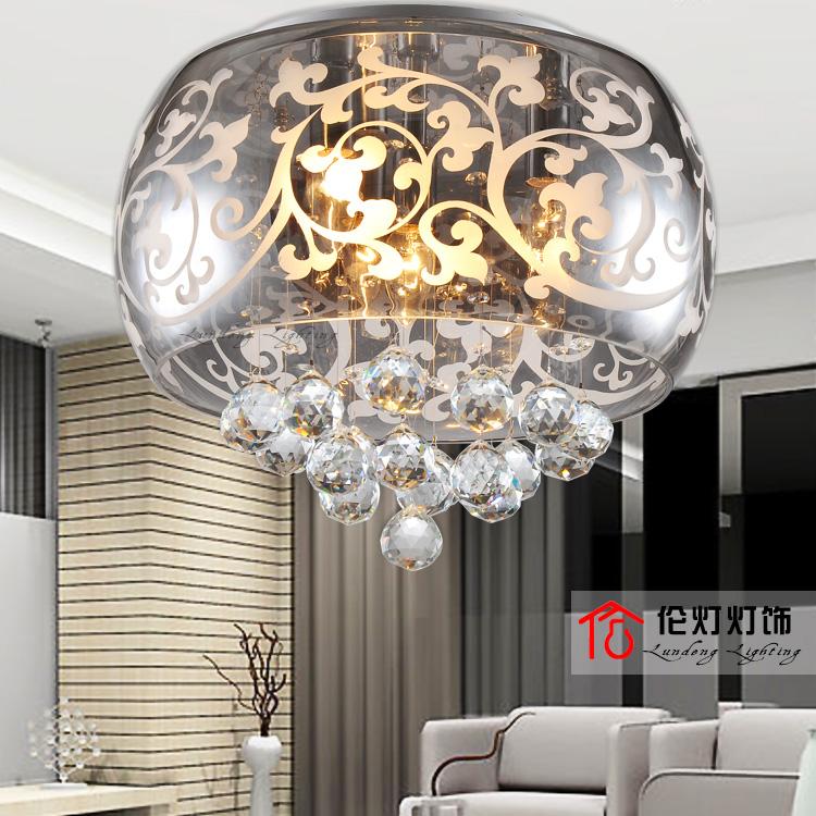 modern laser carved crystal ceiling light living room