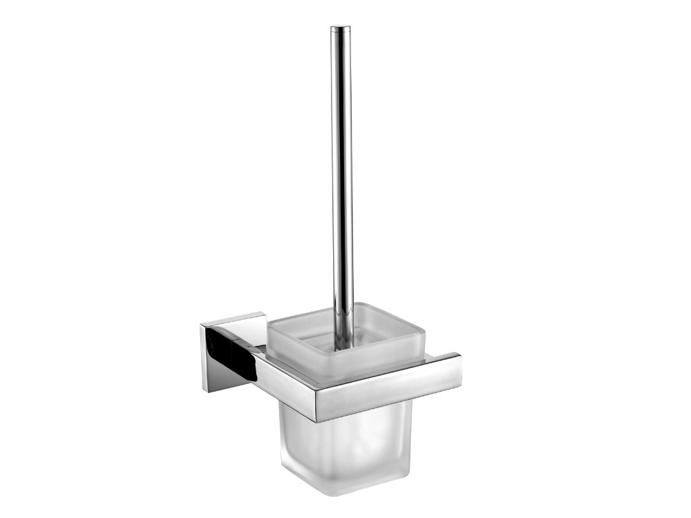 buy contemporary stainless steel bathroom square toilet brush holder brush. Black Bedroom Furniture Sets. Home Design Ideas