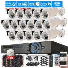 Buy CCTV System 16ch 1080P HDM DVR 16PCS 1.0MP HD 720P 2000TVL in/Outdoor Camera Security System video Surveillance Kit 1T 2T HDD for $418.10 in AliExpress store