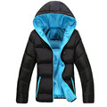 2016 New Winter Men s Jackets Casual Hooded Coats Thick Thermal Hat Parkas Male Fashion Solid