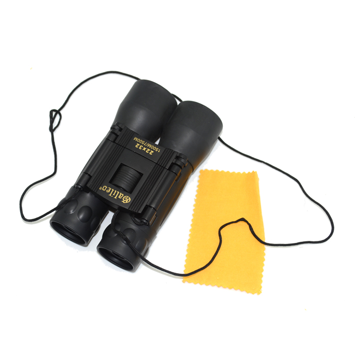 22 x 32 Folding Binoculars with Neck Strap &amp; Lens Cloth(Black)<br><br>Aliexpress