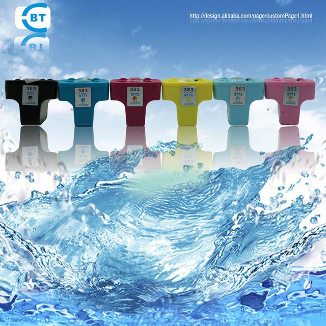 6 color 1set compatible hp363 ink cartridge suitable for D7300/D7100/D6100/C7100/C6100/C5100/C8200/C3100