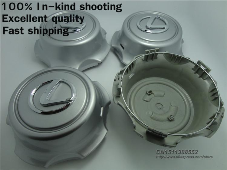 [FAST SHIPPING] 4pcs/lot Golden / Silver lexus Wheel Hub Cap Cover Good Quality Center Cap(China (Mainland))
