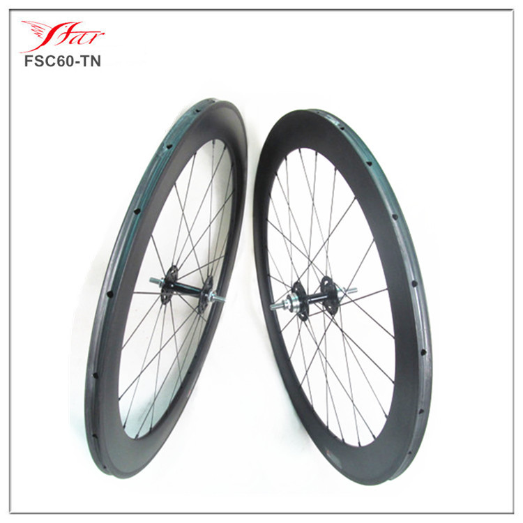 Cheap track bike wheelset, 60mm tubular track carbon wheels, carbon fixed gear bike wheel(China (Mainland))