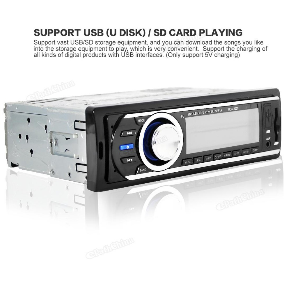 High-quality HDS-9020 Car Auto Radio Stereo AUX-IN MP3 FM / USB 12V Audio Player 1 Din Support for USB/SD card reader ID3 play(China (Mainland))