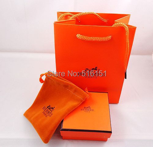 High quality wholesale jewelry packaging box orange ring earrings box A three- piece set(China (Mainland))