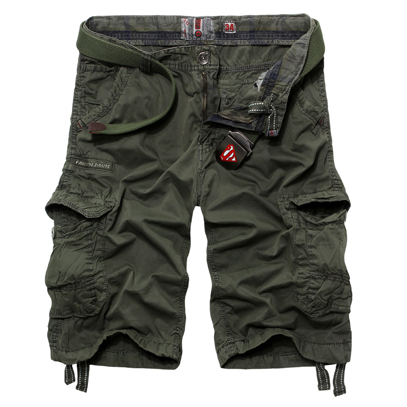2015 Summer New Tooling Shorts Loose Cotton Multi pockets Cargo Shorts Military Gym Basketball Bermudas Men(China (Mainland))