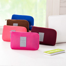 Large data line storage package shock proof digital products mobile power bank storage bag cosmetic bag clutch bag wholesale